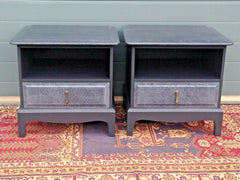 177.....Pair Of Stag Bedside Tables / Refinished Vintage Bedside Cabinets ( SOLD )