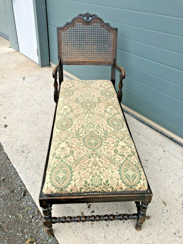 166.....Vintage Jacobean Style Day Bed / Oak Chaise Longue ( SOLD )