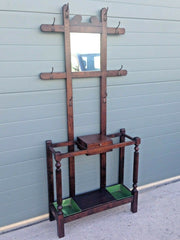 189.....Unique Arts And Crafts Style Hall Stand / Vintage Coat Rack ( SOLD )
