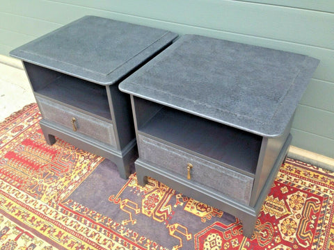 177.....Pair Of Stag Bedside Tables / Refinished Vintage Bedside Cabinets