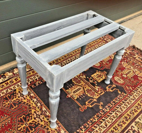 164.....Antique Luggage Stand / Refinished Suitcase Rack