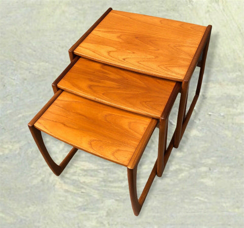 115.....Retro G Plan Quadrille Nest Of Tables / Teak Tables