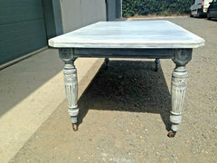 184..... Stunning Vintage Extending Dining Table / Refinished Antique Farmhouse Table