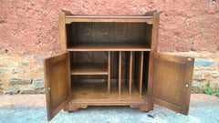 Old Charm Style Cabinet / Oak Record And Media Cabinet