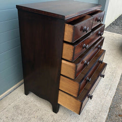138.....Stunning Regency Mahogany Chest Of Drawers / Antique Chest