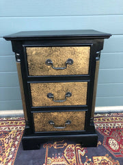 154.....A Pair Of Vintage Empire Style Bedside Chests / Refinished Pine Bedside Tables ( SOLD )