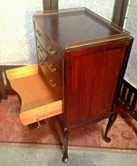 190.....Gorgeous Mahogany Music Cabinet / Sheet Music Chest
