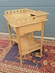 183.....Rare Antique Pine Childs Desk / Lovely Old Bedside Table ( SOLD )