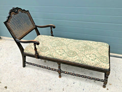 166.....Vintage Jacobean Style Day Bed / Oak Chaise Longue