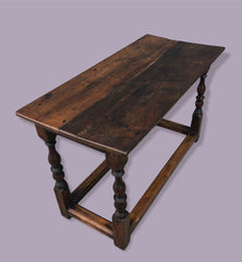 129.....Handsome Solid Oak Coffee Table Made From Antique Oak