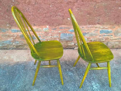 Pair Of Upcycled Ercol Kitchen Chairs