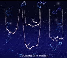Load image into Gallery viewer, Aquarius Astrology Constellation Necklace