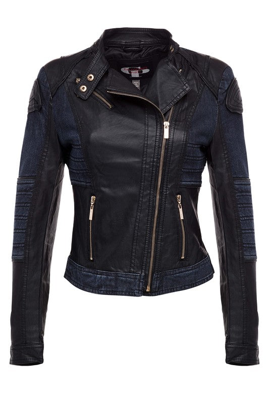 Biker Chic - Black/Denim