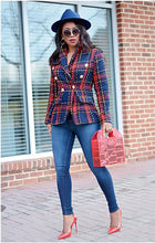 Load image into Gallery viewer, Top Notched Blazer - Plaid