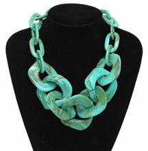Load image into Gallery viewer, Acrylic Chunky Chain Necklace - Turquoise