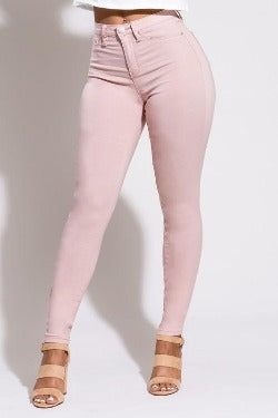 Flexible Skinny Jeans - Pink Rosay