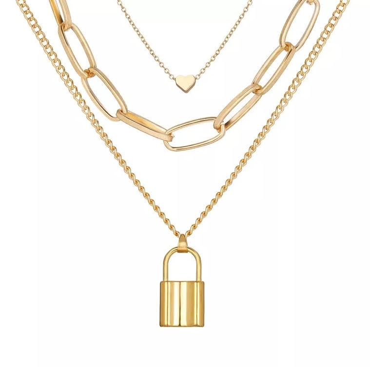 Golden Locket Necklace - Gold