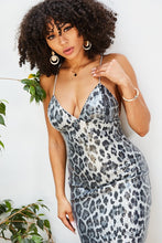 Load image into Gallery viewer, Wild Leopard Sequin Dress - Black