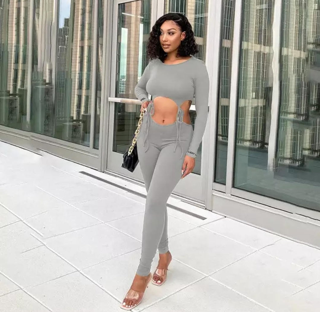 Rude Gyal Jumpsuit - Gray