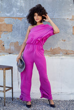 Load image into Gallery viewer, One Shoulder Jumpsuit - Magenta Purple