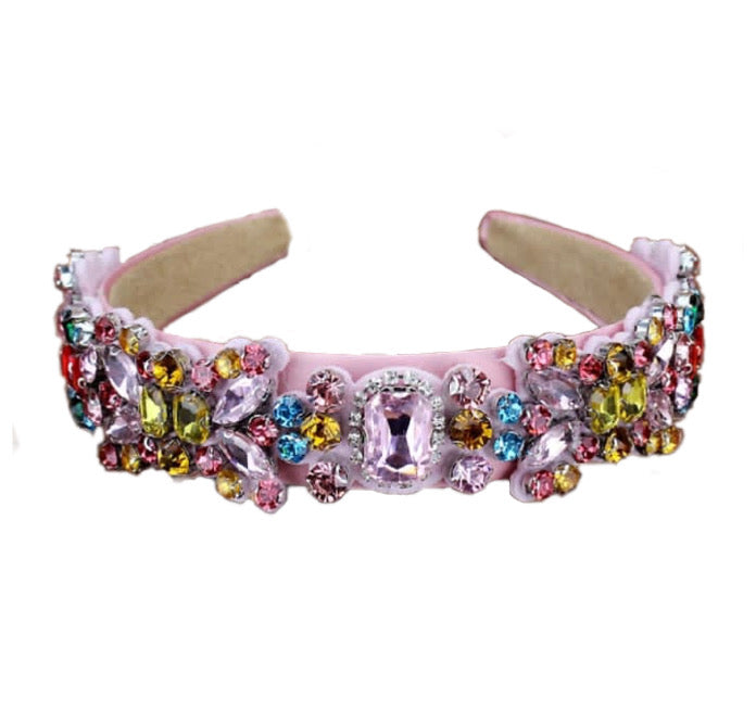 Pink Crystal Headband - Multi Color