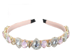Pink Bling Crystal Headband - Pink