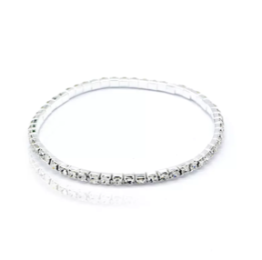 Rhinestone Anklet - Silver