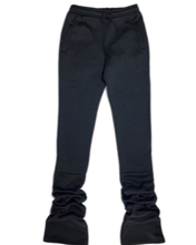 Load image into Gallery viewer, Cozy High Waisted Stacked Sweatpants - Black