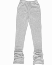 Load image into Gallery viewer, Cozy High Waisted Stacked Sweatpants - Heather Grey