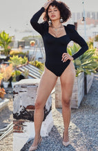 Load image into Gallery viewer, SweetHeart Bodysuit - Black