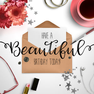 Pink Boutique Birthday Card