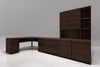 "51"" Corner Desk in Brazilian Cherry wood with a cognac finish TANGO-51OFCD"