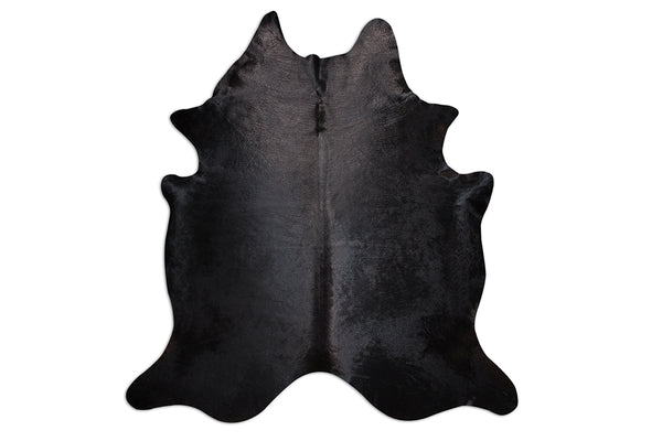 Black Beauty Natural Cowhide Floor Covering