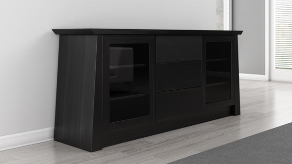 70 inch TV Stand in Black Cherry Wood