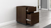 "16"" American Walnut Veneer Vertical File Cabinet FT16PDW"