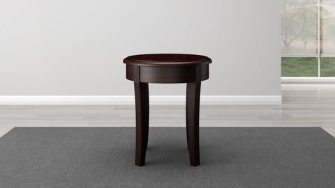 Brazilian Cherry End Table in a Wenge Finish