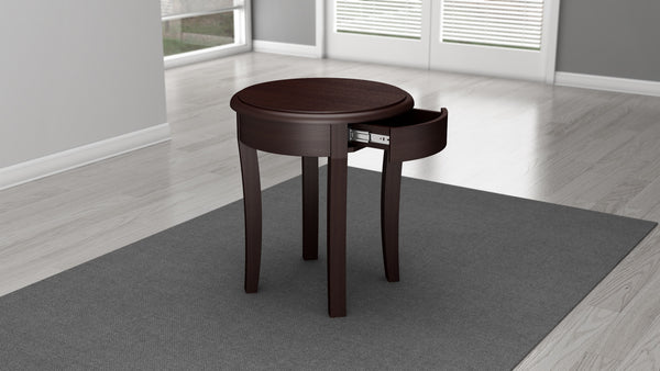 Brazilian Cherry End Table In A Wenge Finish Furnitech