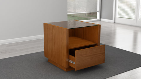 Contemporary End Table in a Light Cherry Finish