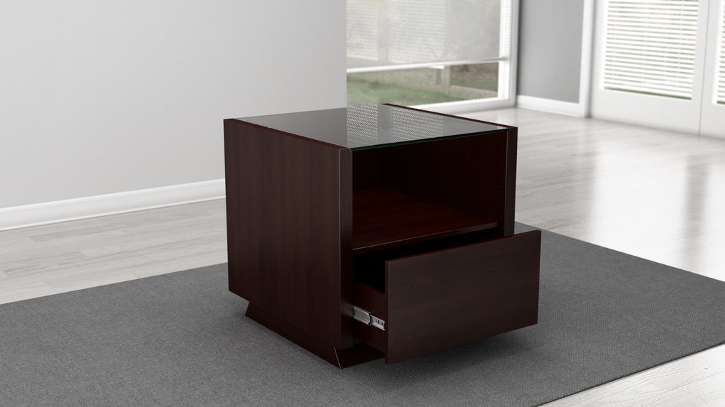 ... 24 Inch Contemporary End Table In A Wenge Finish