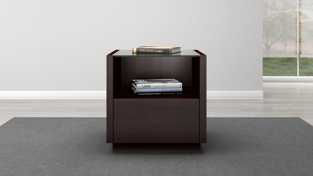 Contemporary End Table In A Wenge Finish ...