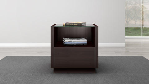 Contemporary End Table in a Wenge Finish