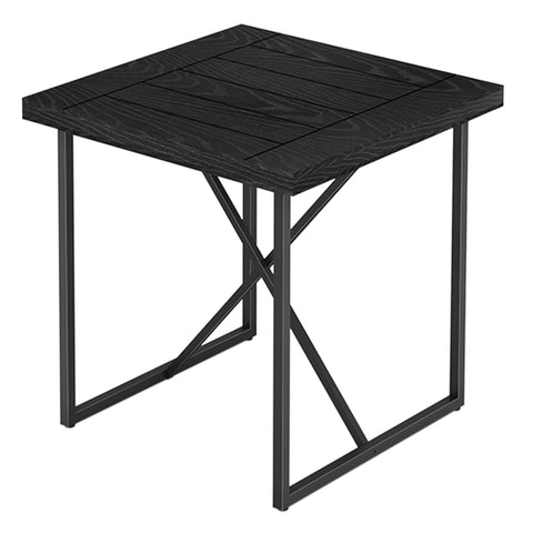 X END TABLE- EBONY OAK WITH GRAPHITE TUBULAR STEEL BASE