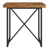 X END TABLE- HONEY OAK WITH GRAPHITE TUBULAR STEEL BASE