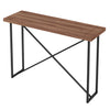 X CONSOLE TABLE- WALNUT WITH GRAPHITE TUBULAR STEEL BASE