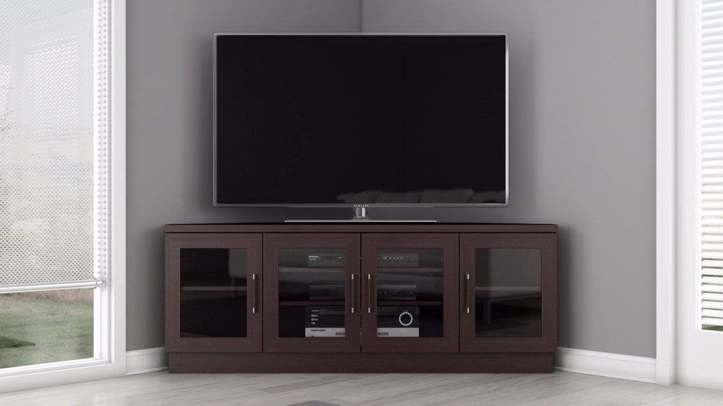 Corner TV Stand In A Wenge Finish ...