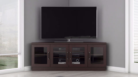 Corner TV Stand in a Wenge Finish