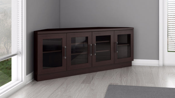 Corner TV Stand and Media Console in a Wenge Finish