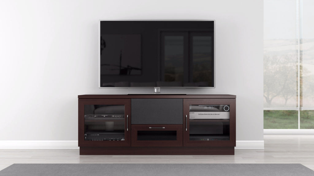 Tv Stand And Media Center In A Wenge Finish Furnitech