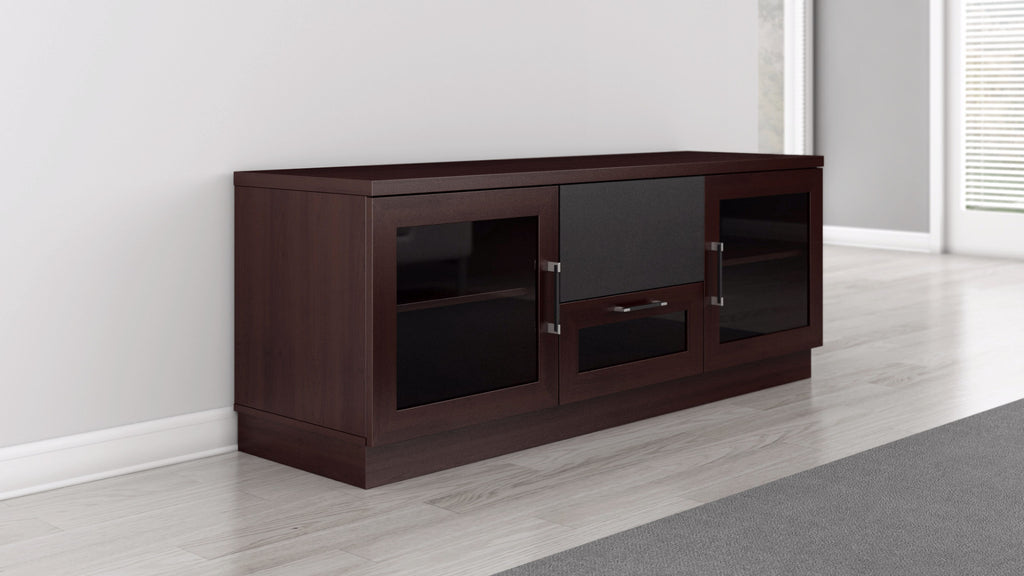 60 inch tv stand and media center in a wenge finish