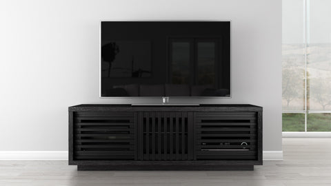 "64"" Black American Oak Media Console FT64WSEB"
